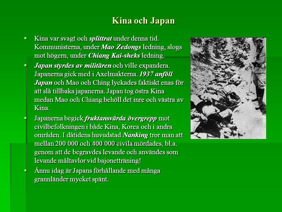 Kina och Japan
