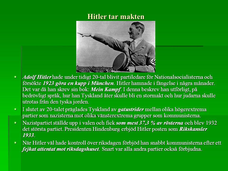 Hitler tar makten