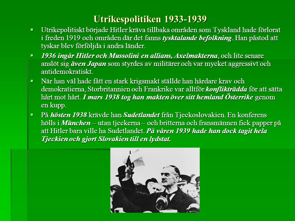 Utrikespolitiken 1933-1939