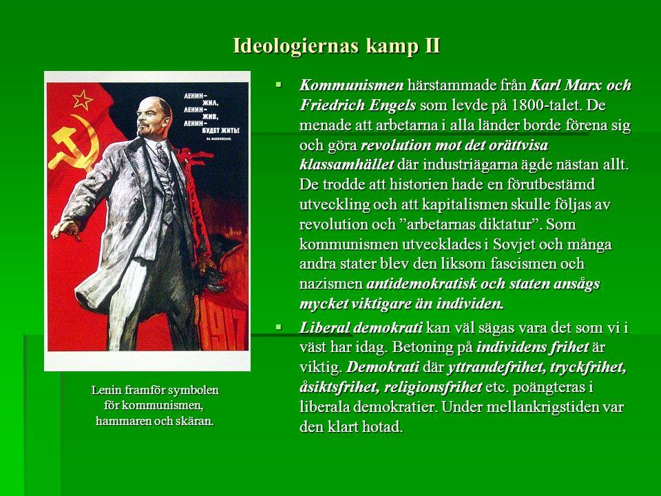 Lenin framför symbolen