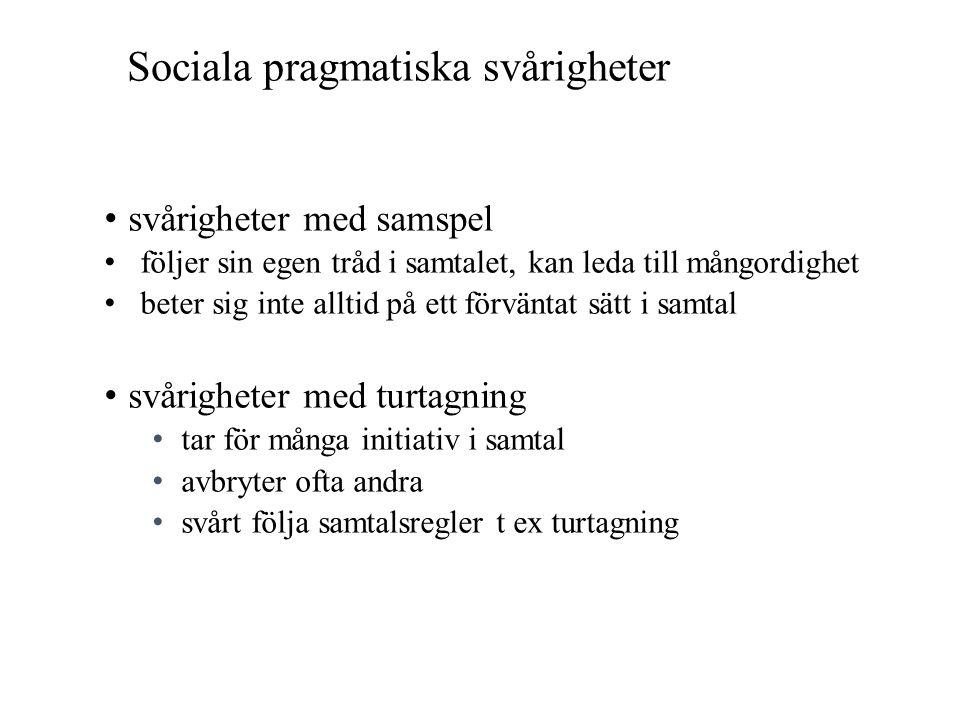Sociala pragmatiska svårigheter