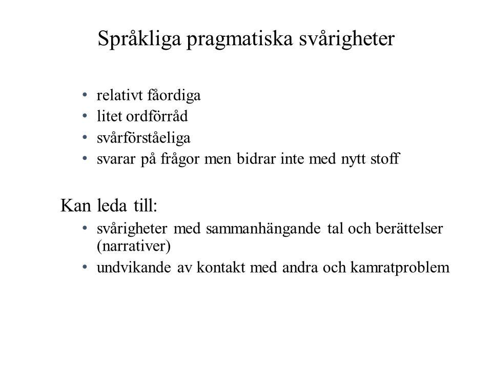 Språkliga pragmatiska svårigheter