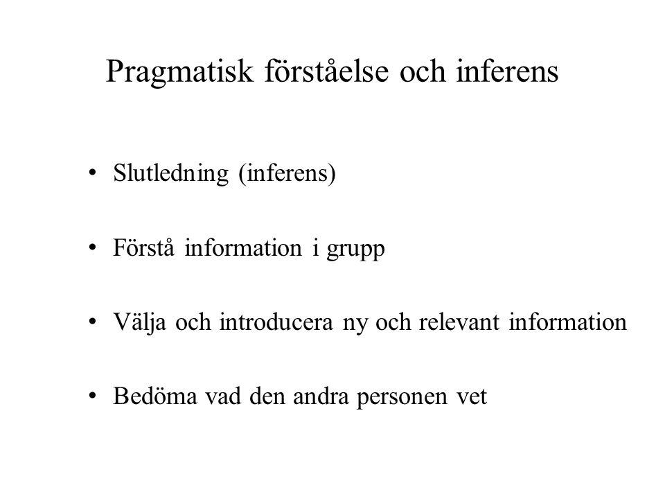 Pragmatisk förståelse och inferens