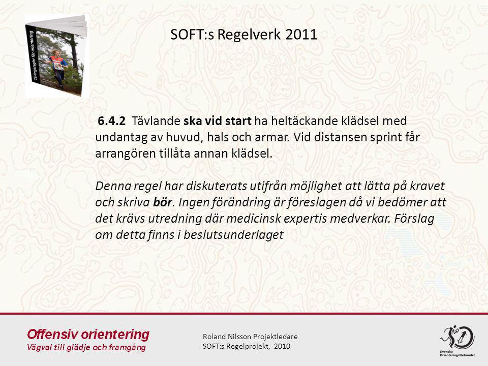 SOFT:s Regelverk 2011