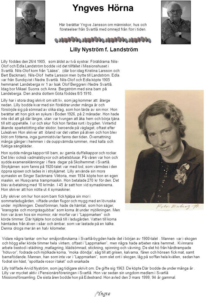 Lilly Nyström f. Landström