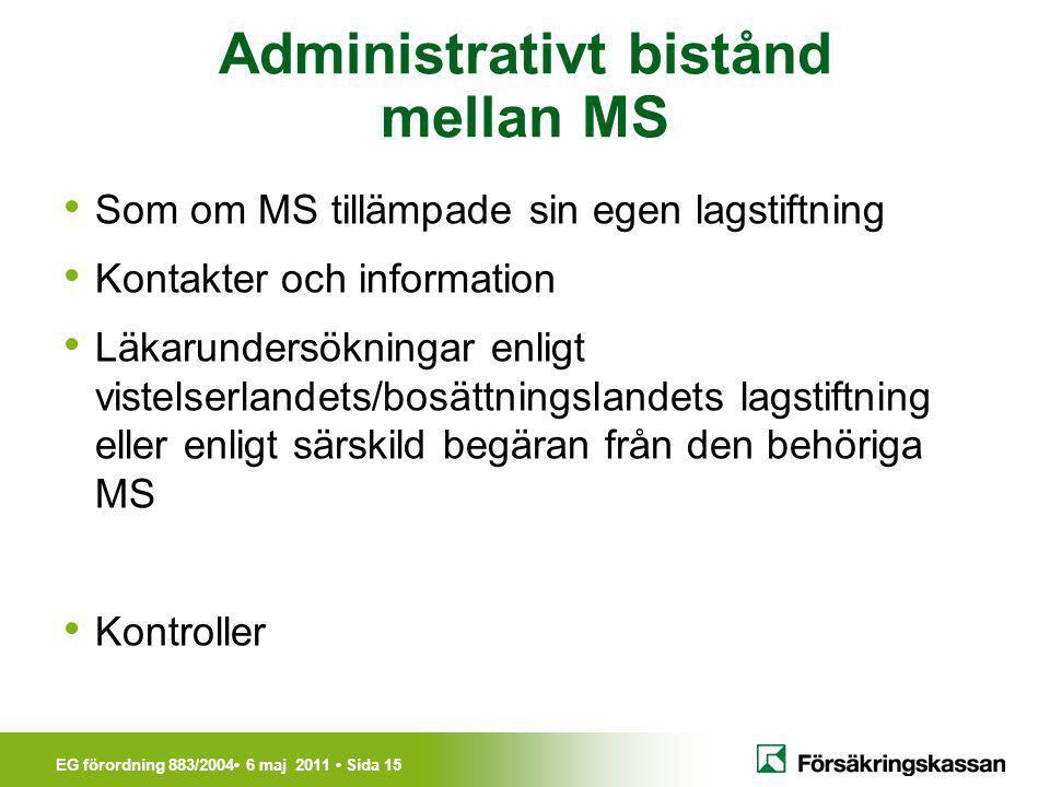 Administrativt bistånd mellan MS
