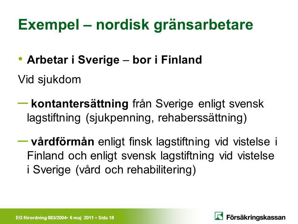 Exempel – nordisk gränsarbetare