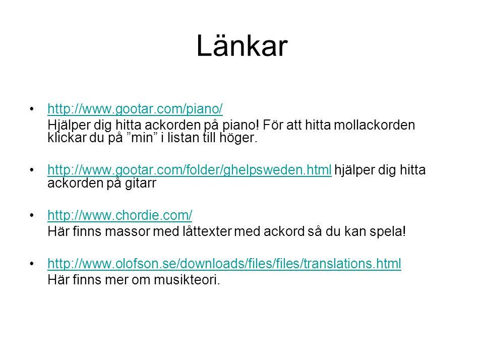 Länkar http://www.gootar.com/piano/