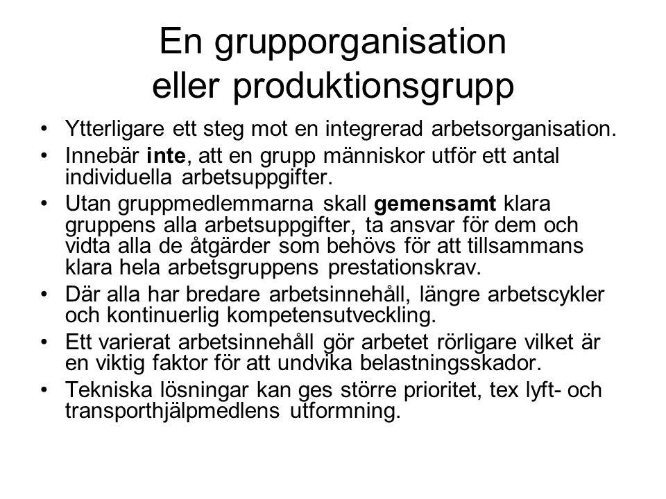En grupporganisation eller produktionsgrupp