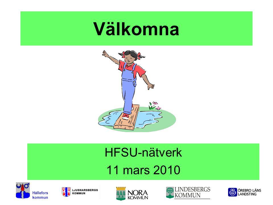 Välkomna HFSU-nätverk 11 mars 2010 Hällefors kommun