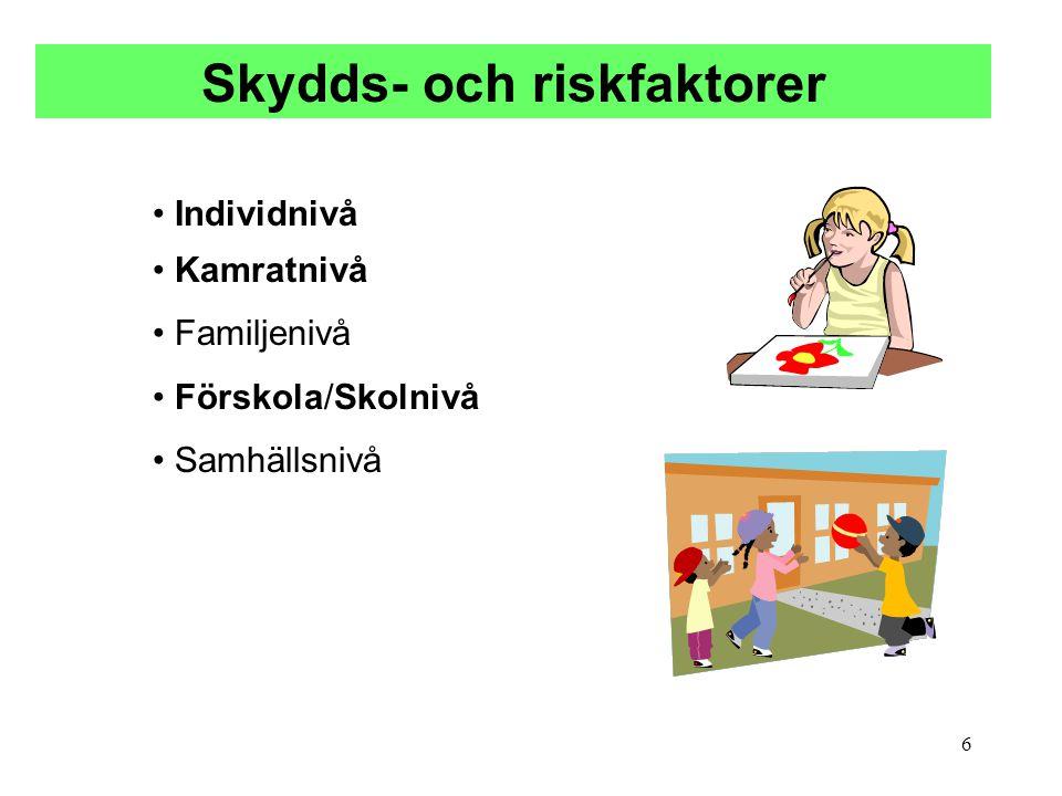 Skydds- och riskfaktorer