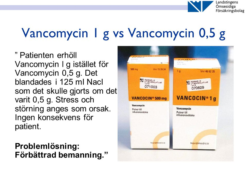 Vancomycin 1 g vs Vancomycin 0,5 g