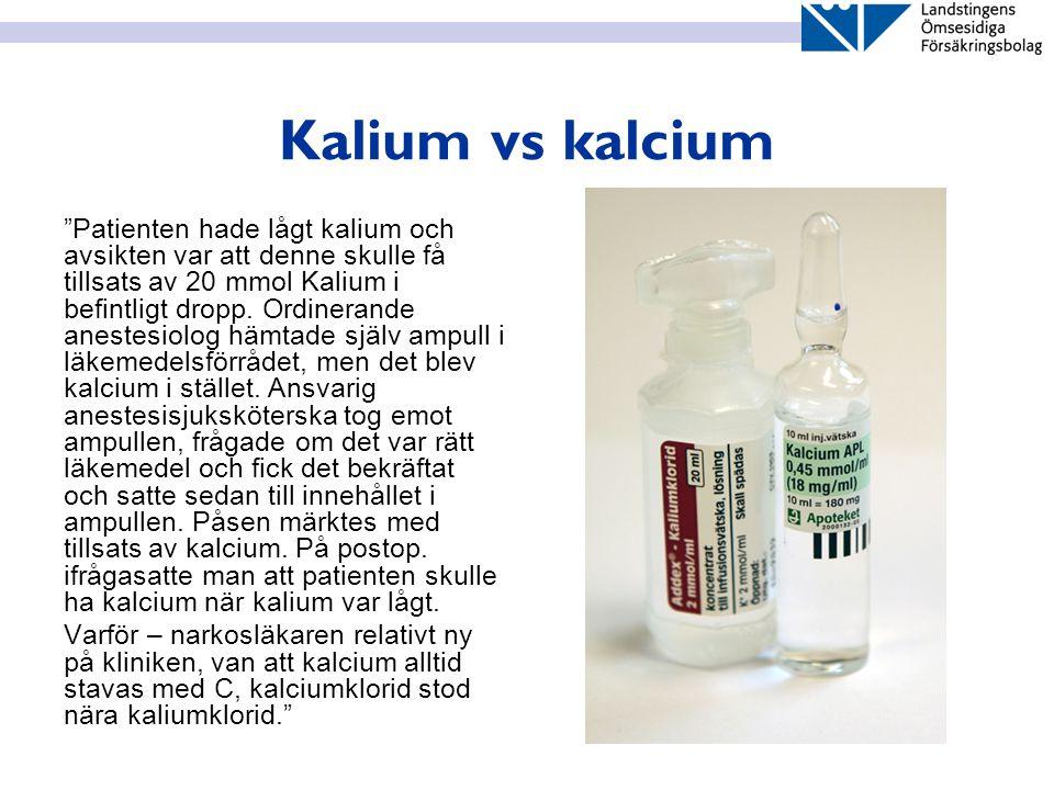 Kalium vs kalcium