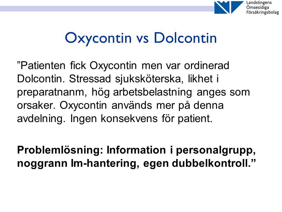 Oxycontin vs Dolcontin