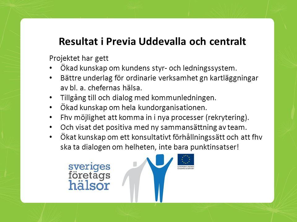 Resultat i Previa Uddevalla och centralt
