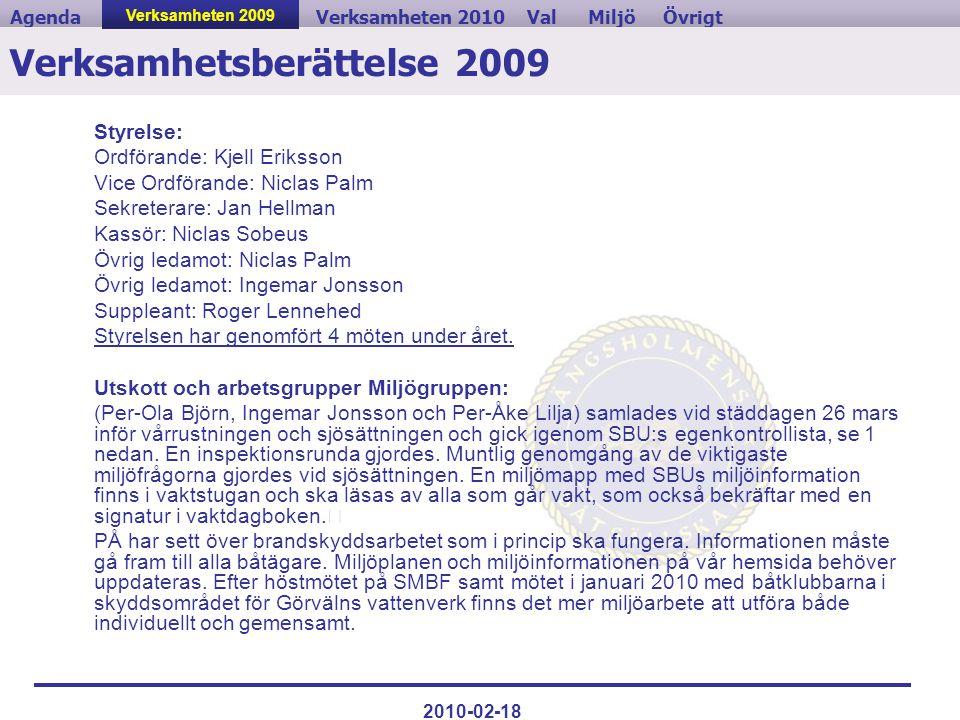 Verksamhetsberättelse 2009
