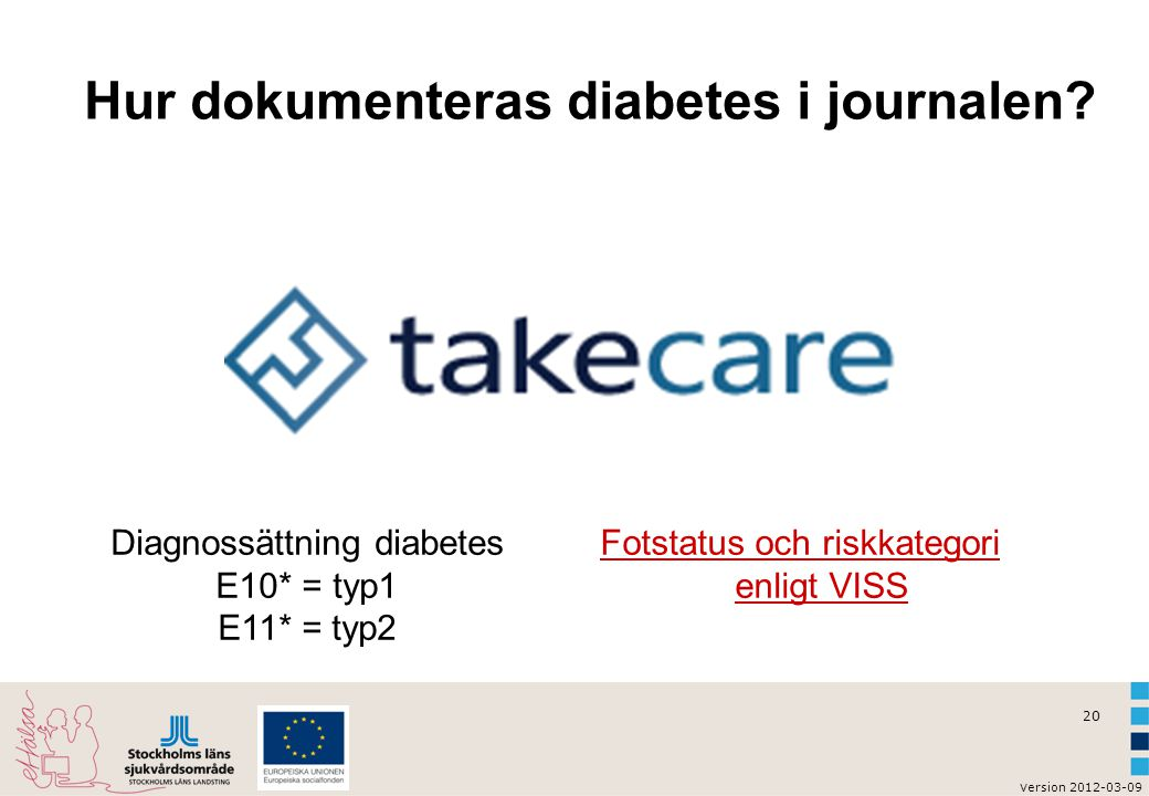 Hur dokumenteras diabetes i journalen