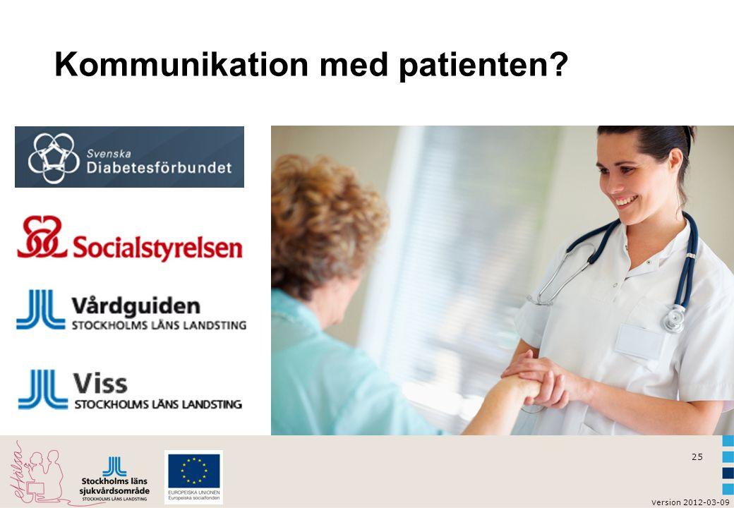 Kommunikation med patienten