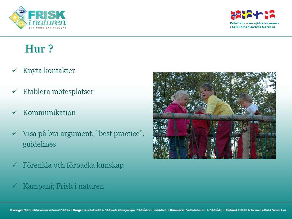 Hur Knyta kontakter Etablera mötesplatser Kommunikation