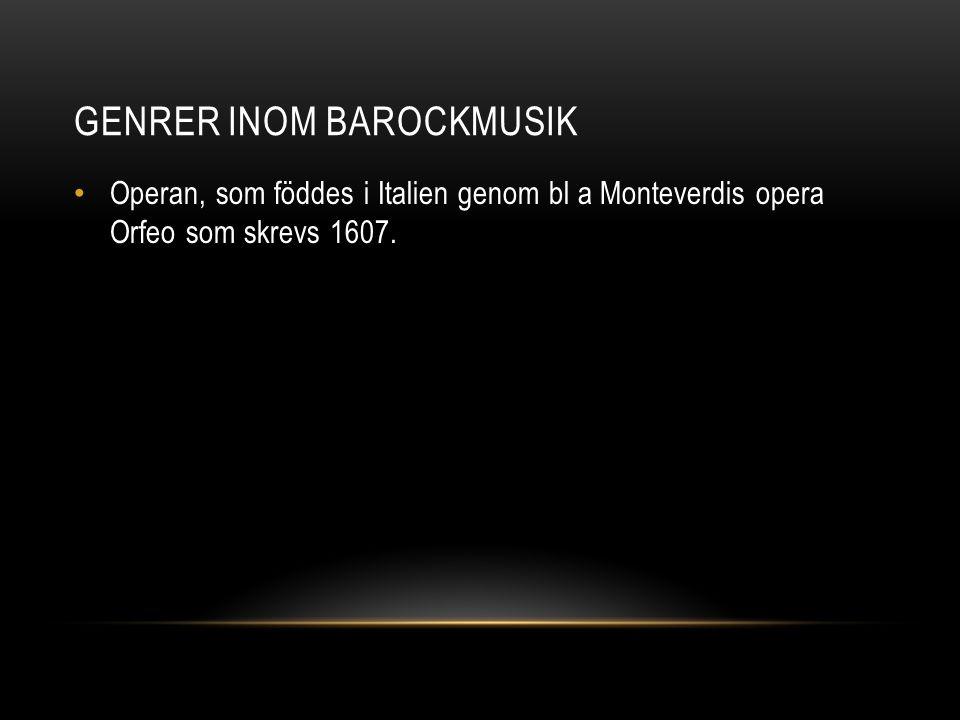 Genrer inom barockmusik