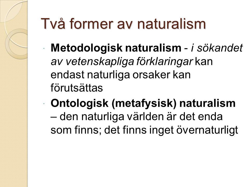 Två former av naturalism