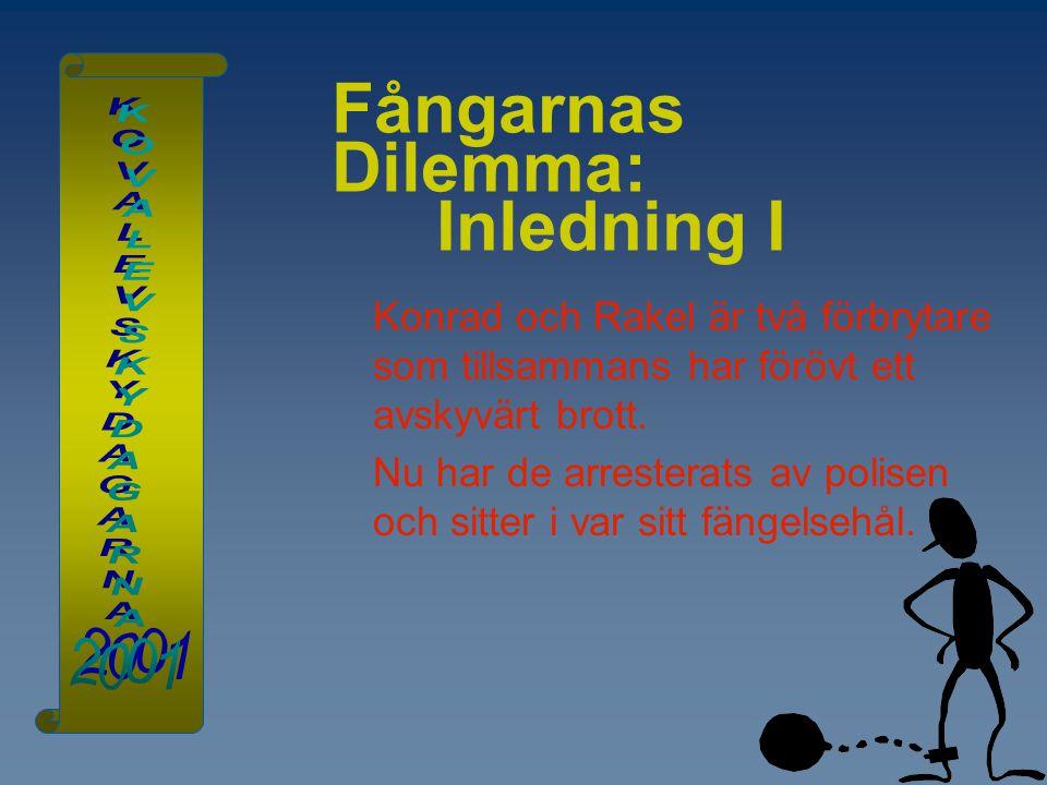 Fångarnas Dilemma: Inledning I