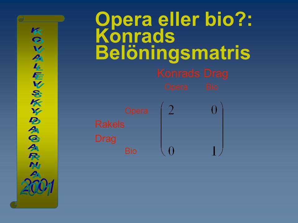 Opera eller bio : Konrads Belöningsmatris