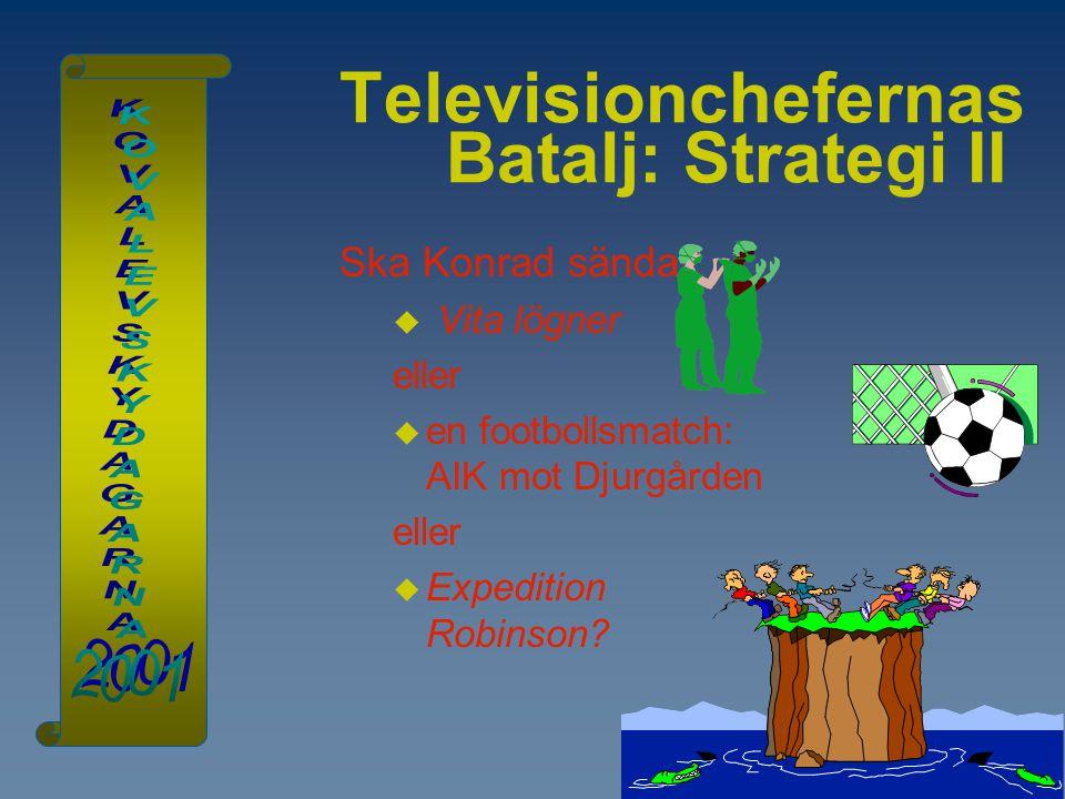 Televisionchefernas Batalj: Strategi II