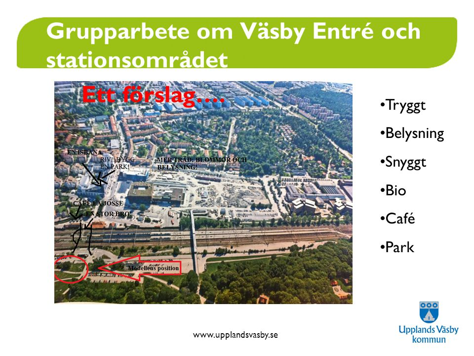 Grupparbete om Väsby Entré och stationsområdet