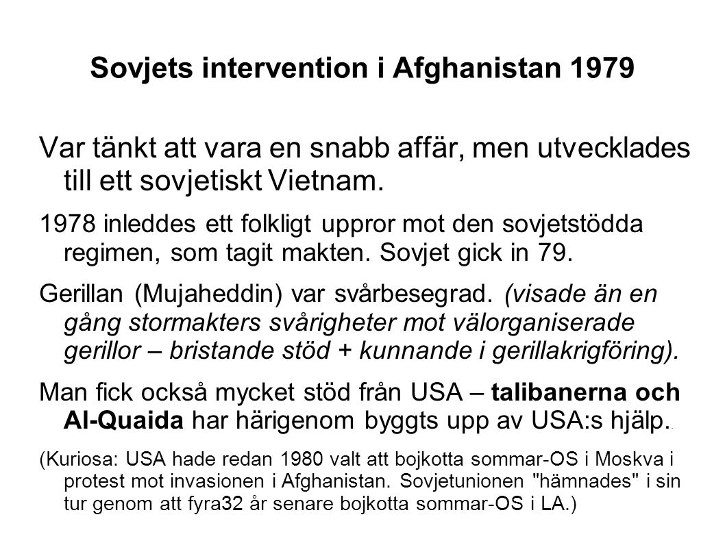 Sovjets intervention i Afghanistan 1979