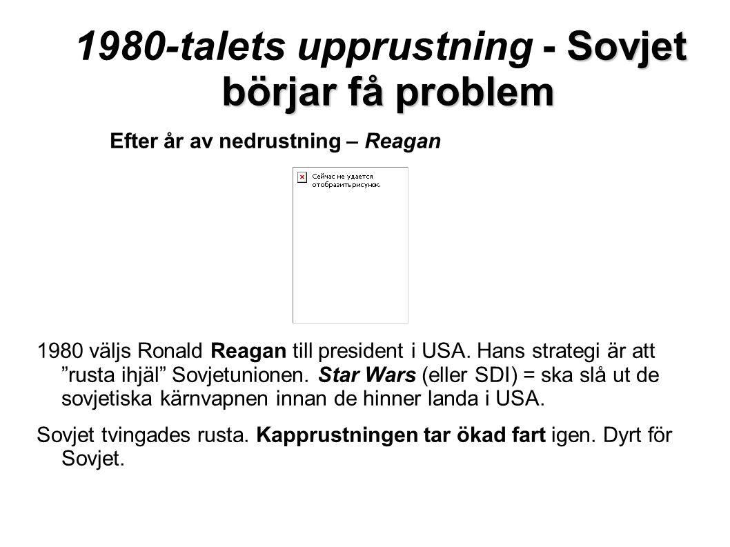 1980-talets upprustning - Sovjet börjar få problem