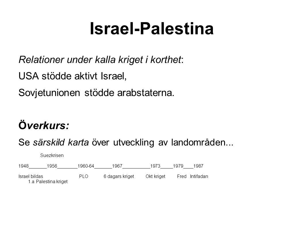 Israel-Palestina Överkurs: Relationer under kalla kriget i korthet: