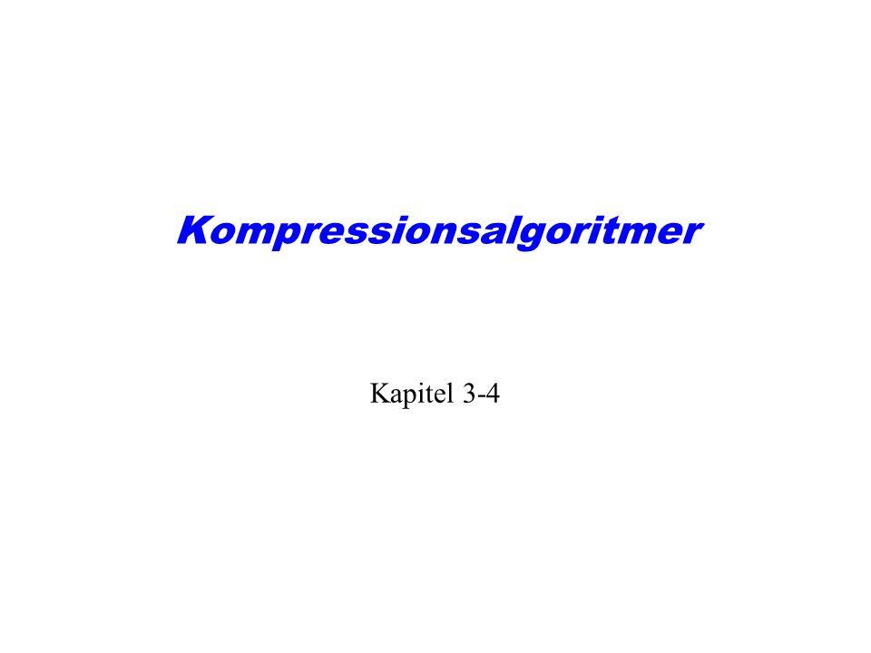 Kompressionsalgoritmer