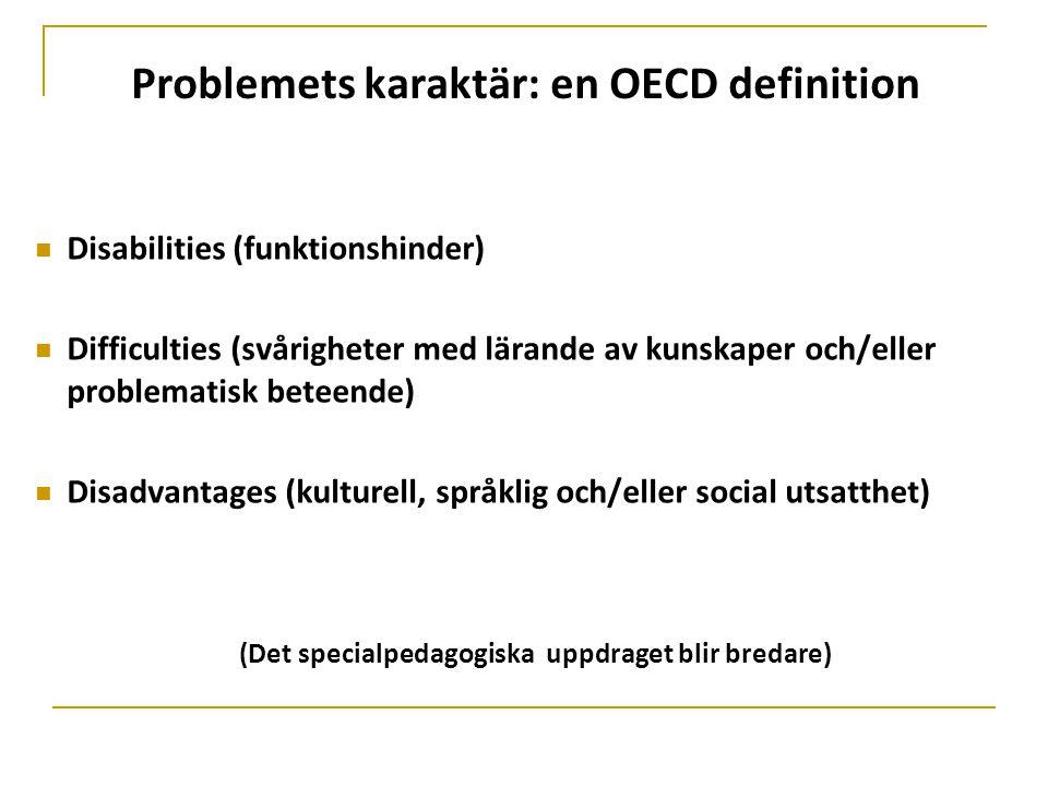 Problemets karaktär: en OECD definition