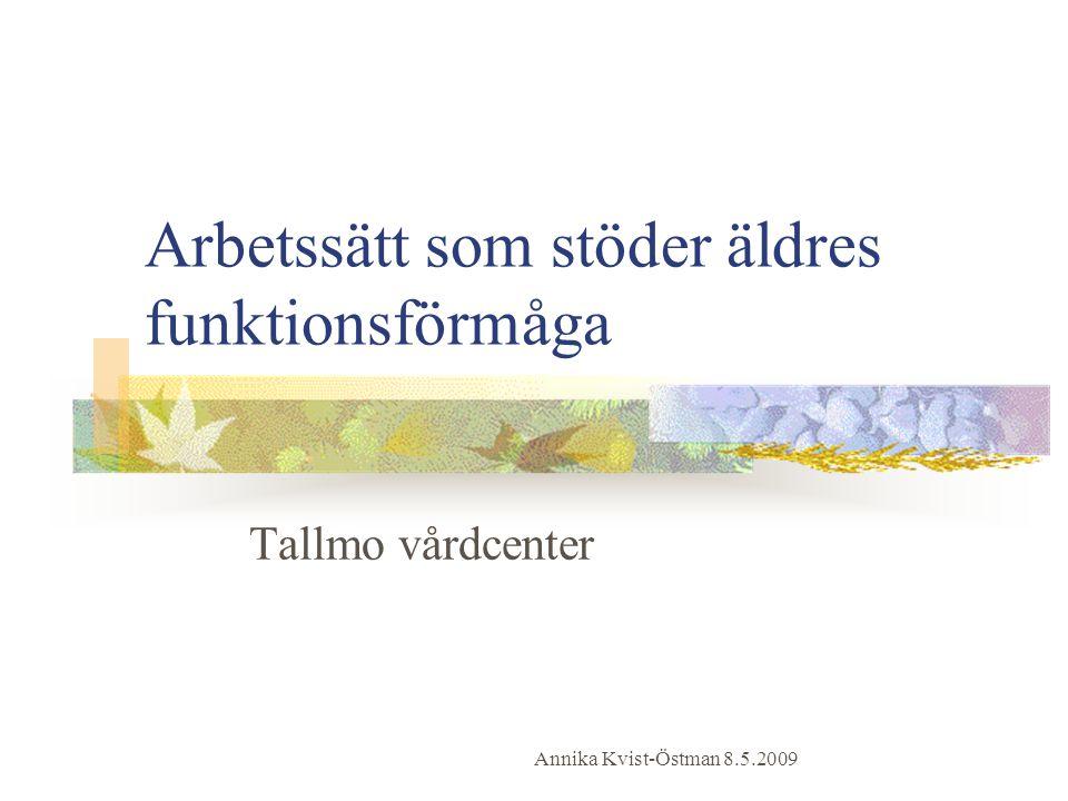 Arbetssätt som stöder äldres funktionsförmåga