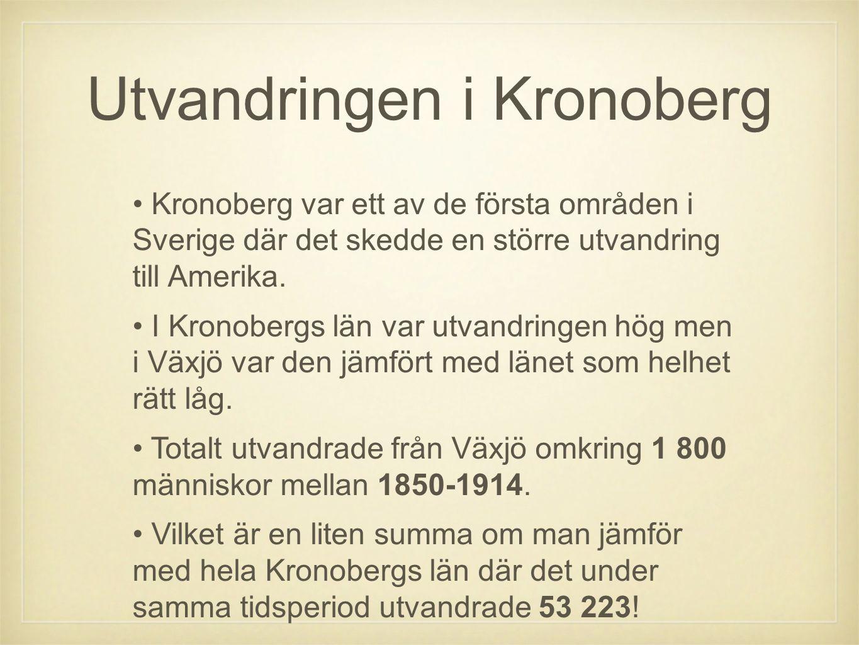 Utvandringen i Kronoberg
