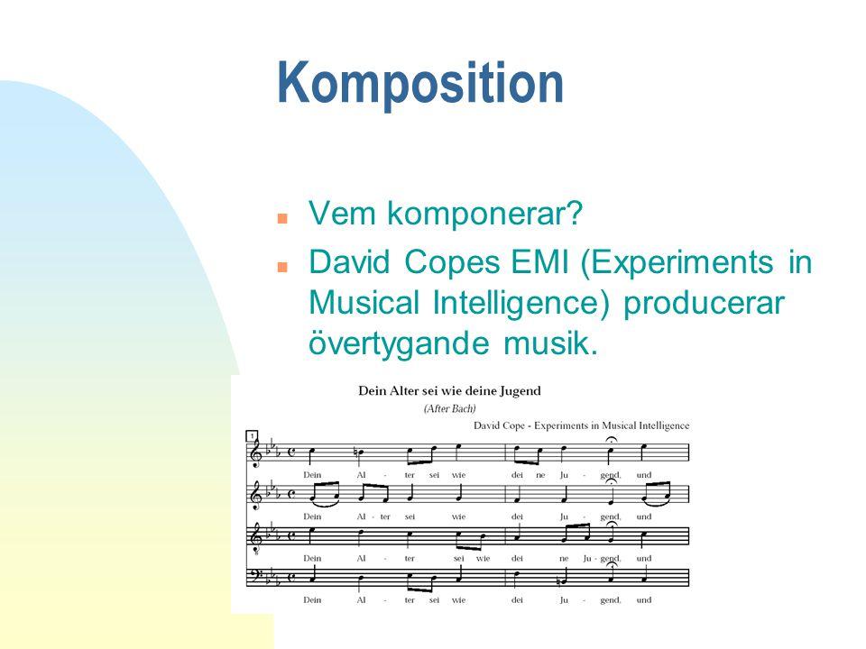Komposition Vem komponerar
