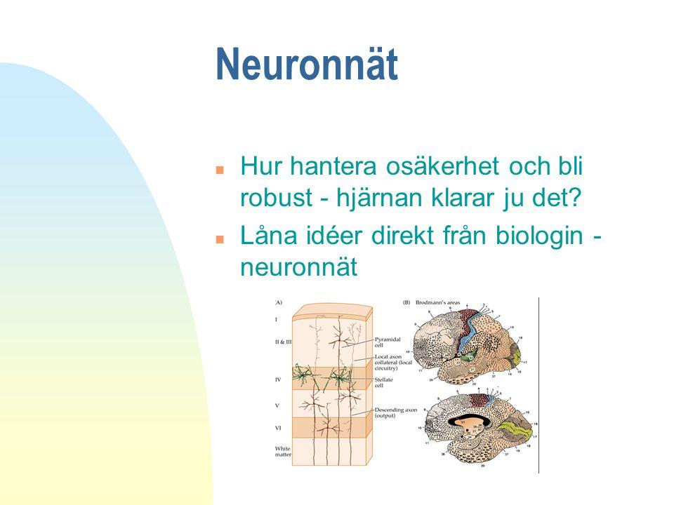 Neuronnät Hur hantera osäkerhet och bli robust - hjärnan klarar ju det.