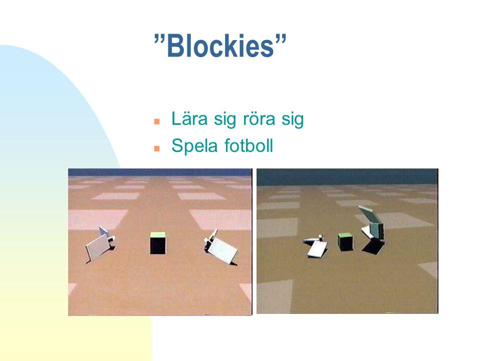 Blockies Lära sig röra sig Spela fotboll