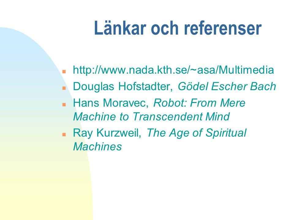 Länkar och referenser http://www.nada.kth.se/~asa/Multimedia