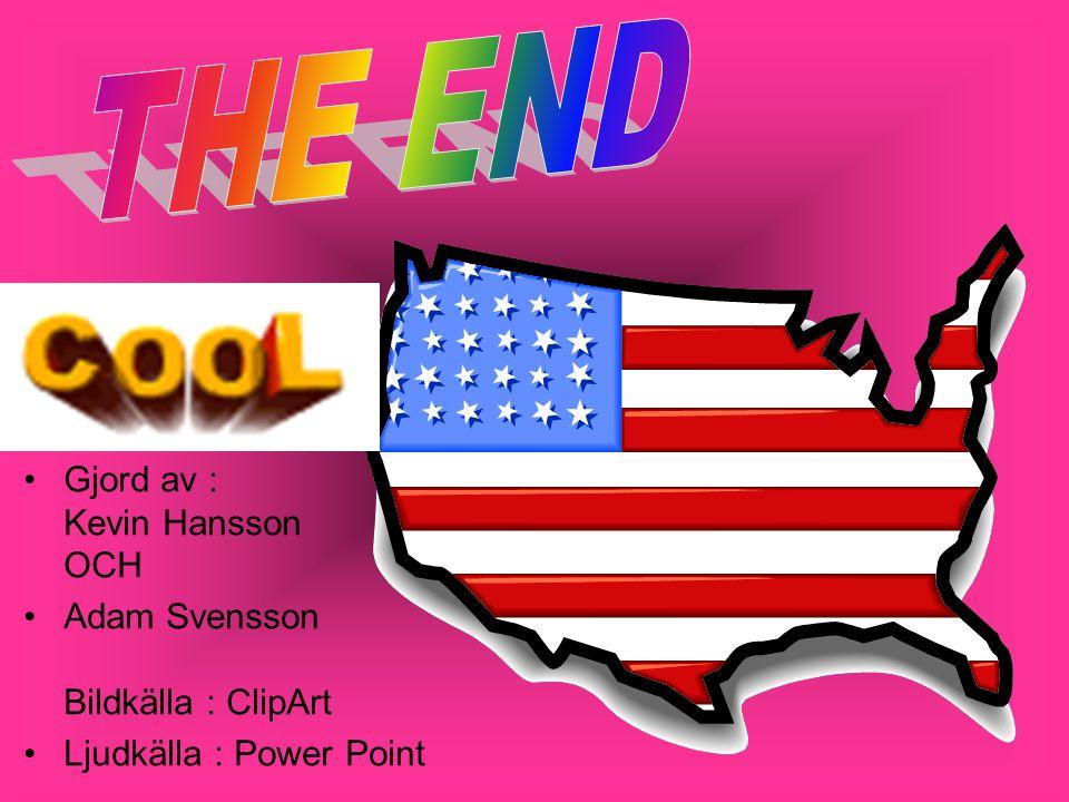 THE END Gjord av : Kevin Hansson OCH Adam Svensson Bildkälla : ClipArt