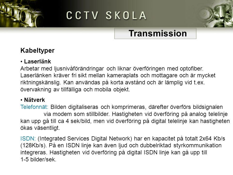 Transmission Kabeltyper