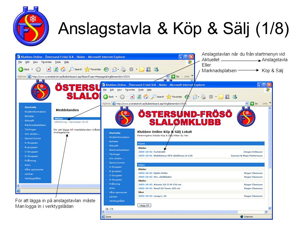 Anslagstavla & Köp & Sälj (1/8)
