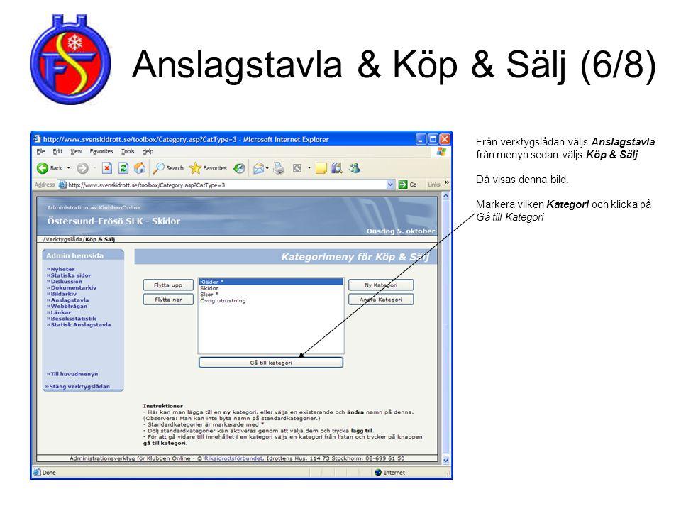 Anslagstavla & Köp & Sälj (6/8)