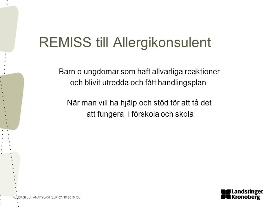 REMISS till Allergikonsulent