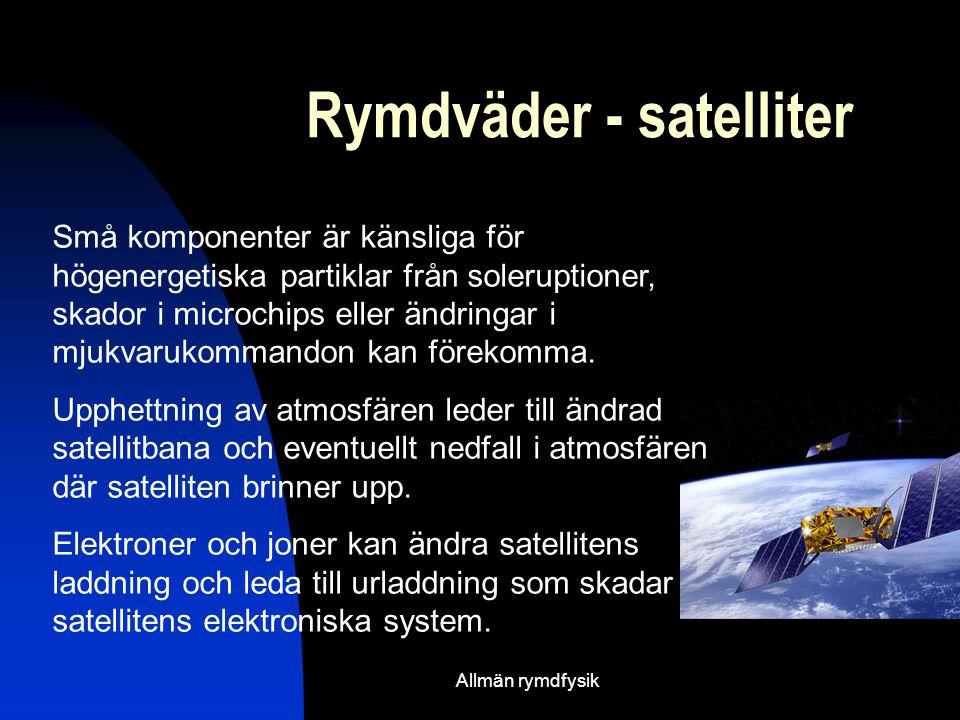 Rymdväder - satelliter