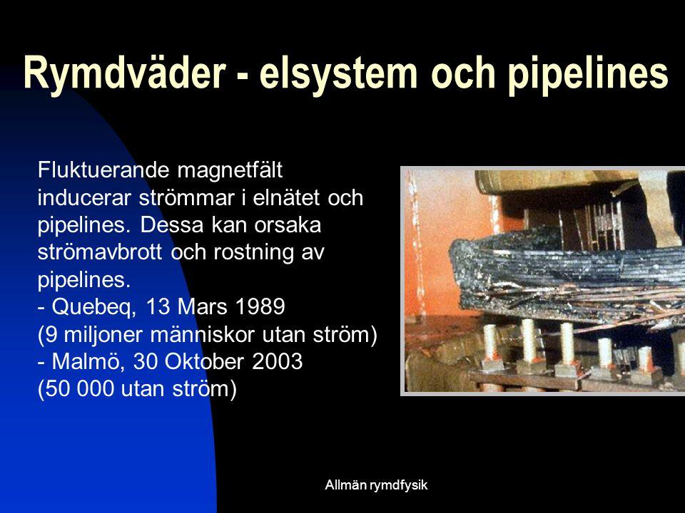 Rymdväder - elsystem och pipelines