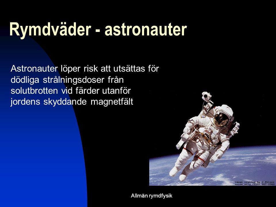 Rymdväder - astronauter