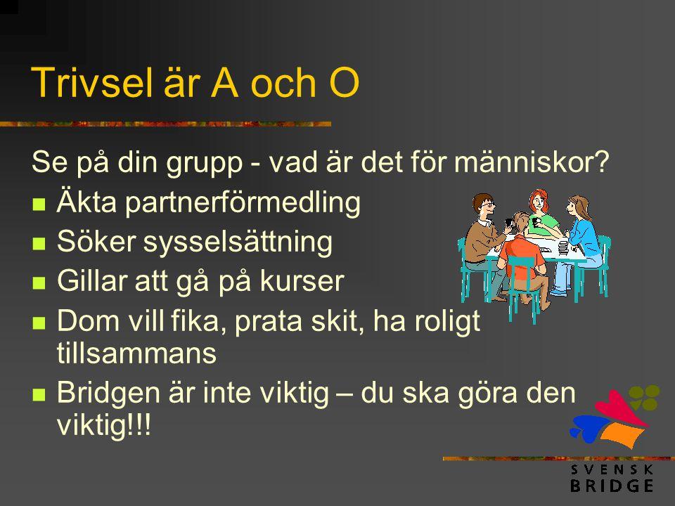 Trivsel är A och O Se på din grupp - vad är det för människor