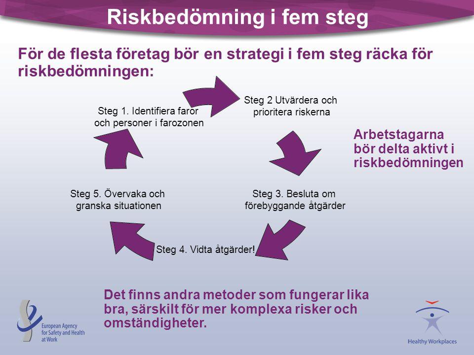 Riskbedömning i fem steg